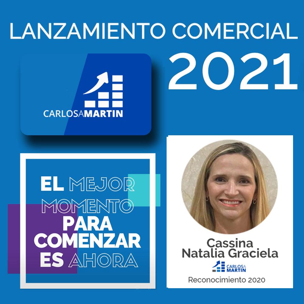 Reconocimiento a Natalia | LANZAMIENTO COMERCIAL CAM 2021